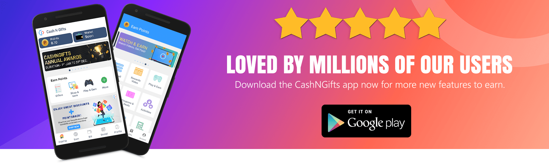 Download CashNGifts app